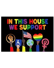LGBT In this house we support yard sign 17x11 Poster thumbnail