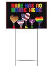 LGBT In this house we support yard sign 18x12 Yard Sign back
