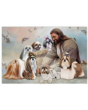 God surrounded by Shih Tzu angel Gift for you Poster 24x16 Poster front