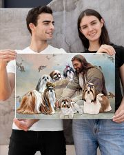 God surrounded by Shih Tzu angel Gift for you Poster 24x16 Poster poster-landscape-24x16-lifestyle-21