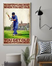 You don't stop playing cricket when old poster 11x17 Poster lifestyle-poster-1