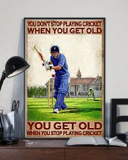 You don't stop playing cricket when old poster 11x17 Poster lifestyle-poster-2