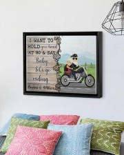Biker I want to hold your hand  say riding poster 14x11 Black Floating Framed Canvas Prints aos-floating-framed-canvas-pgw-14x11-black-lifestyle-front-01