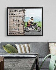 Biker I want to hold your hand  say riding poster 14x11 Black Floating Framed Canvas Prints aos-floating-framed-canvas-pgw-14x11-black-lifestyle-front-02