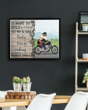 Biker I want to hold your hand  say riding poster 14x11 Black Floating Framed Canvas Prints aos-floating-framed-canvas-pgw-14x11-black-lifestyle-front-03
