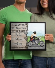 Biker I want to hold your hand  say riding poster 14x11 Black Floating Framed Canvas Prints aos-floating-framed-canvas-pgw-14x11-black-lifestyle-front-17