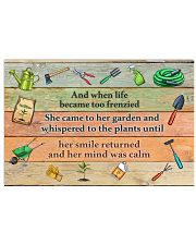 Garden And when life became too frenzied poster 24x16 Poster front
