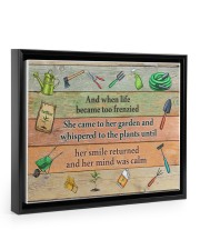 Garden And when life became too frenzied poster Floating Framed Canvas Prints Black tile