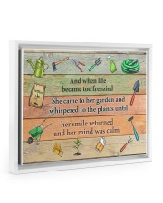 Garden And when life became too frenzied poster Floating Framed Canvas Prints White tile