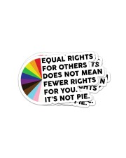 Equal rights for others does not mean sticker Sticker - 4 pack (Vertical) front