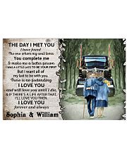 Personalized Truck The day I met you I poster 24x16 Poster front