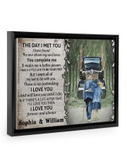 Personalized Truck The day I met you I poster 14x11 Black Floating Framed Canvas Prints thumbnail