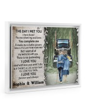 Personalized Truck The day I met you I poster 14x11 White Floating Framed Canvas Prints thumbnail