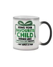 Being your favorite child seems like christmas mug Color Changing Mug thumbnail