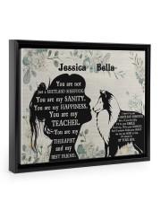 You are not just a shetland sheepdog poster Floating Framed Canvas Prints Black tile