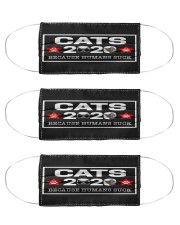 Cat 2020 because humans suck face mask Cloth Face Mask - 3 Pack front