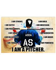 Baseball Iam pitcher custom name and number poster Horizontal Poster tile