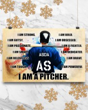Baseball Iam pitcher custom name and number poster 17x11 Poster aos-poster-landscape-17x11-lifestyle-30
