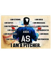 Baseball Iam pitcher custom name and number poster 17x11 Poster front