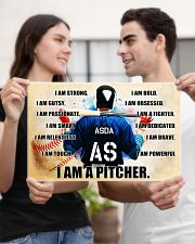 Baseball Iam pitcher custom name and number poster 17x11 Poster poster-landscape-17x11-lifestyle-20