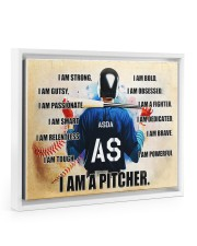 Baseball Iam pitcher custom name and number poster 14x11 White Floating Framed Canvas Prints thumbnail