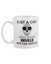 Just a girl who loves skulls and has tattoos mug Mug back