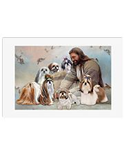 God surrounded by Shih Tzu angel Poster 24x16 Poster front
