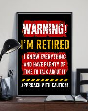 Warning i'm retired I know everything poster 11x17 Poster lifestyle-poster-2