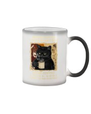 Black cat before coffee I hate everyone after Color Changing Mug thumbnail