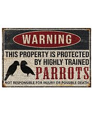 Parrots warning this property is protected poster 24x16 Poster front