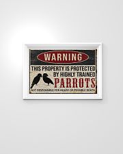 Parrots warning this property is protected poster 24x16 Poster poster-landscape-24x16-lifestyle-02