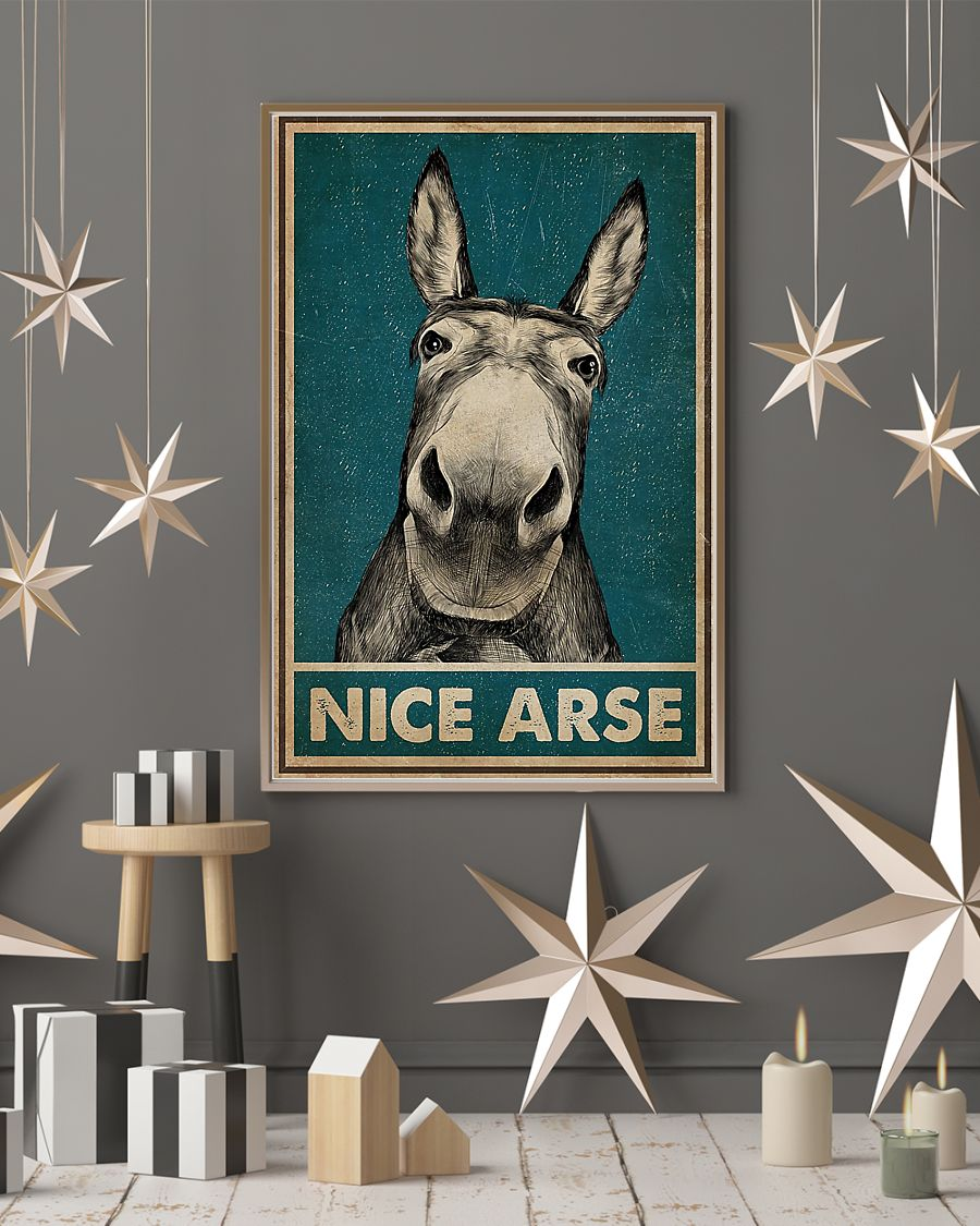 Donkey Nice Arse Poster Poster Wall Art Print Size 11x17 16x24 24x36 Poster