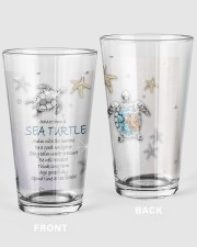 Advice from a sea turtle swim with current tumbler 16oz Pint Glass thumbnail