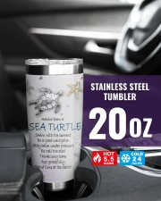Advice from a sea turtle swim with current tumbler 20oz Tumbler aos-20oz-tumbler-lifestyle-front-39