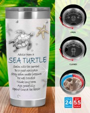 Advice from a sea turtle swim with current tumbler 20oz Tumbler aos-20oz-tumbler-lifestyle-front-46