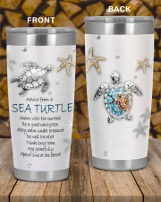 Advice from a sea turtle swim with current tumbler 20oz Tumbler aos-20oz-tumbler-lifestyle-front-58