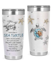 Advice from a sea turtle swim with current tumbler 20oz Tumbler front