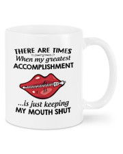 There are time when my greatest accomplishment mug Mug front