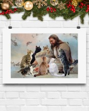 God surrounded by cats angels Poster 24x16 Poster aos-poster-landscape-24x16-lifestyle-29