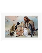 God surrounded by cats angels Poster 24x16 Poster front