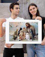 God surrounded by cats angels Poster 24x16 Poster poster-landscape-24x16-lifestyle-21
