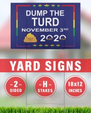 Dump the turd November 3rd 2020 yard sign 18x12 Yard Sign aos-yard-sign-18x12-lifestyle-front-30