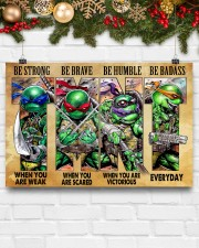 TMNT be strong be brave be humble be badass poster 24x16 Poster aos-poster-landscape-24x16-lifestyle-29