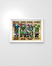 TMNT be strong be brave be humble be badass poster 24x16 Poster poster-landscape-24x16-lifestyle-02