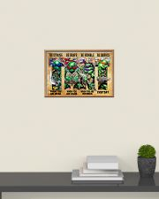 TMNT be strong be brave be humble be badass poster 24x16 Poster poster-landscape-24x16-lifestyle-09