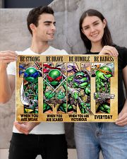 TMNT be strong be brave be humble be badass poster 24x16 Poster poster-landscape-24x16-lifestyle-21