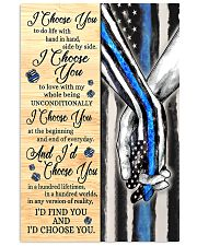 Blue Police I choose you to do life poster  11x17 Poster front