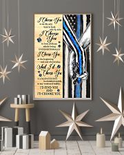 Blue Police I choose you to do life poster  11x17 Poster lifestyle-holiday-poster-1