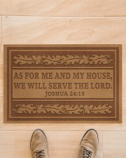 """As for me and my house we will the lord doormat Doormat 22.5"""" x 15""""  aos-doormat-22-5x15-lifestyle-front-02"""