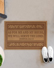 """As for me and my house we will the lord doormat Doormat 22.5"""" x 15""""  aos-doormat-22-5x15-lifestyle-front-07"""